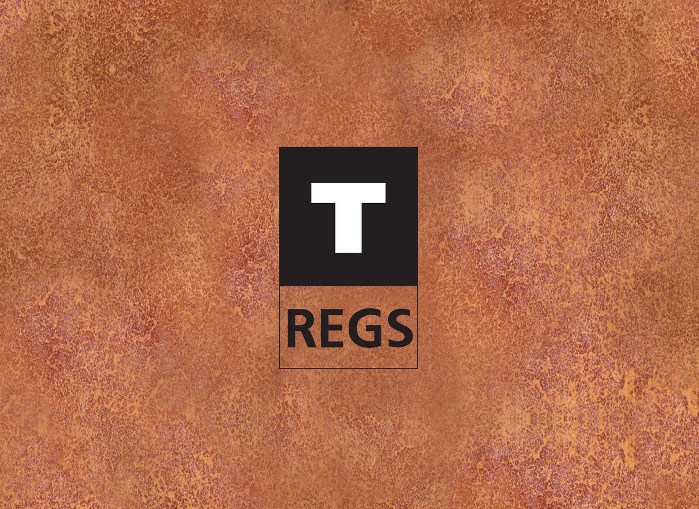 logo T-Regs zwart wit koper