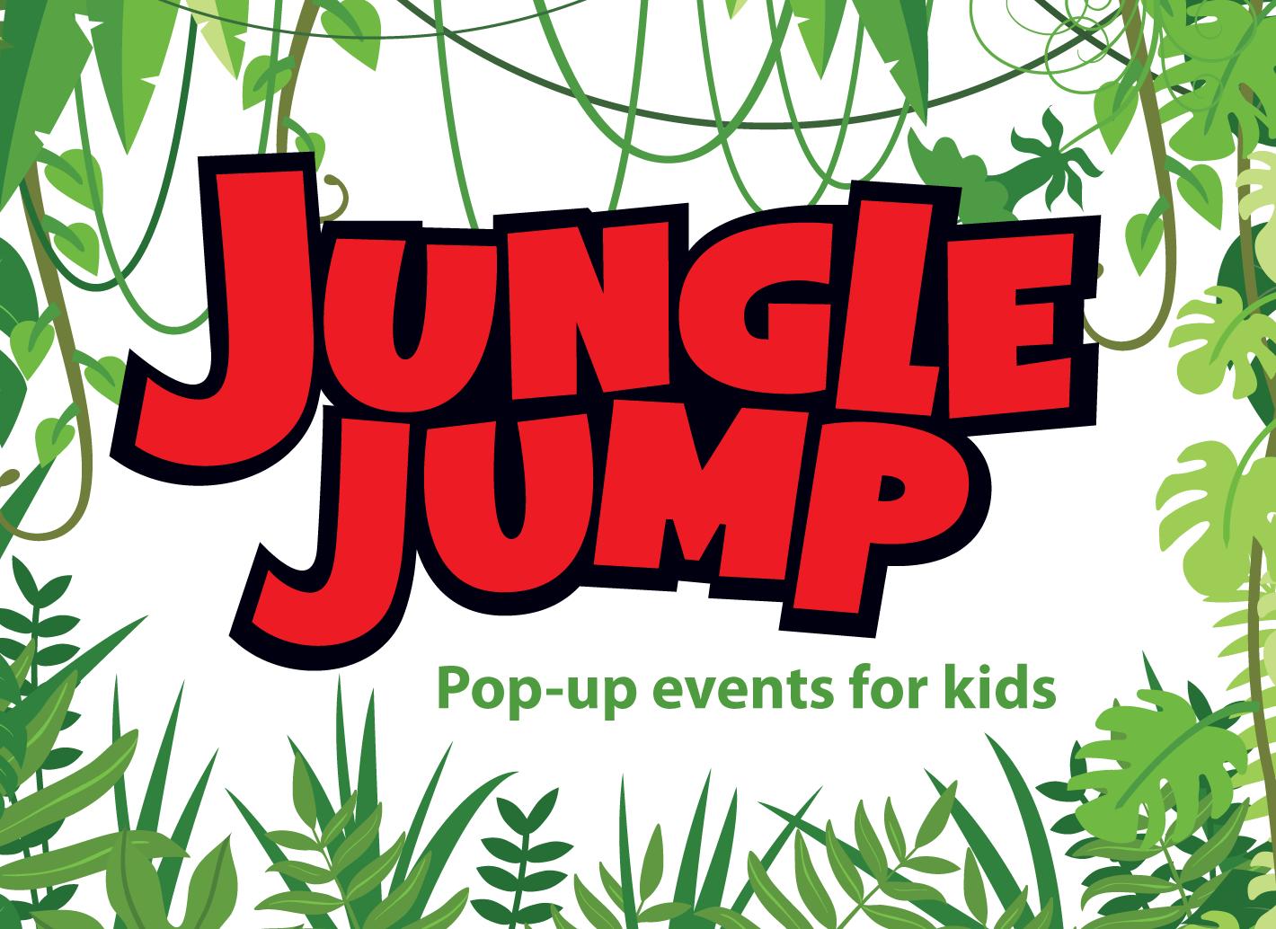Jungle Jump pop-up events for kids logo