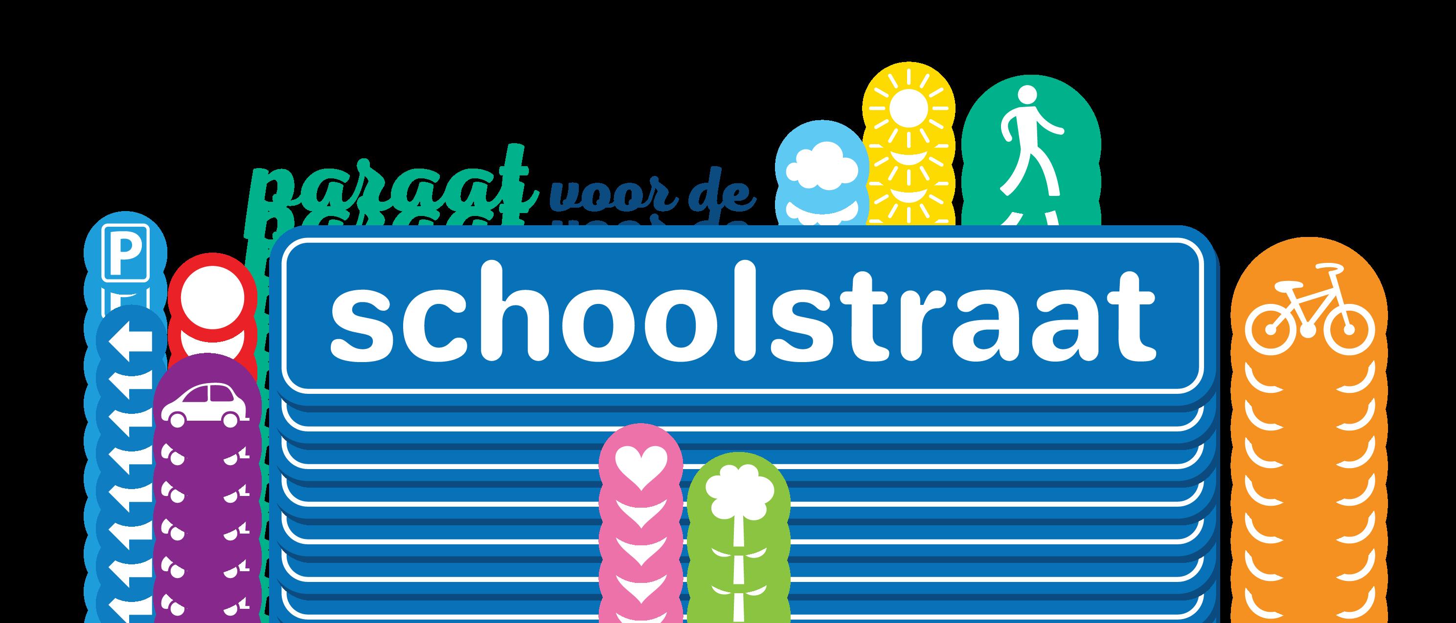 Logo Paraat voor de schoolstraat voor Infopunt Publieke Ruimte