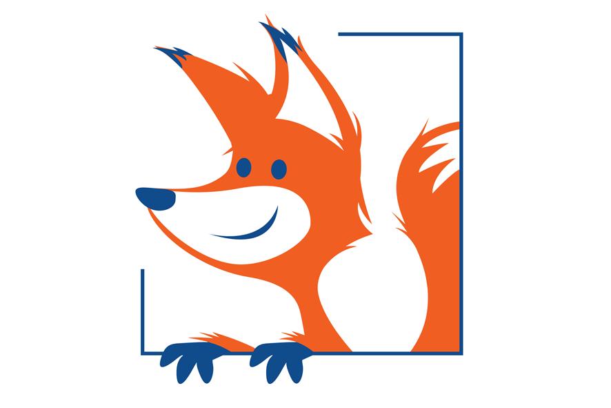 VUB Vrije Universiteit Brussel logo daycare vos illustratie oranje