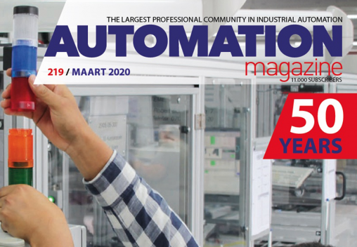 Automation Magazine redesign cover logo 50 jaar