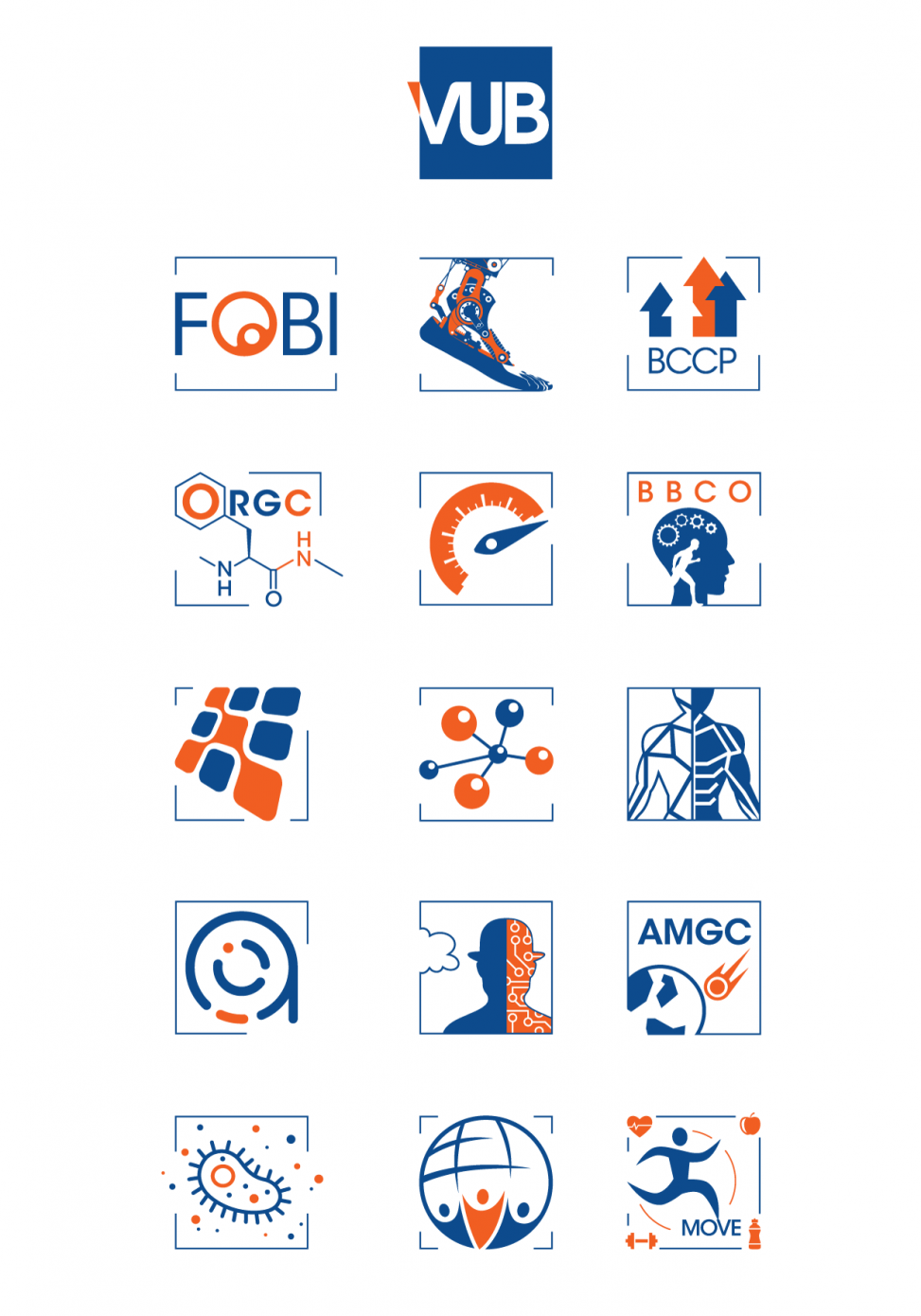 VUB Vrije Universiteit Brussel 100+ logo's van departementen en onderzoeksgroepen VUB huisstijl