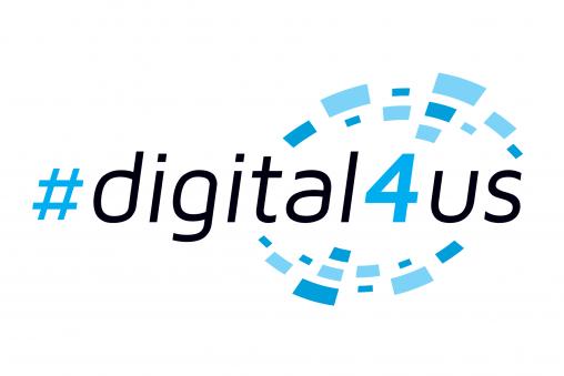 #digital 4 us logo voor Aquafin digitale campus